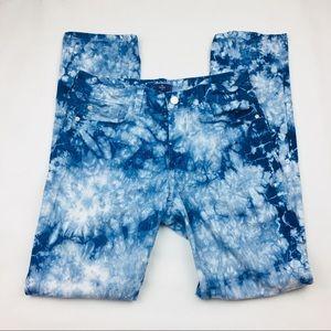 NYDJ Blue Surge Tie Dye Skinny Jeans